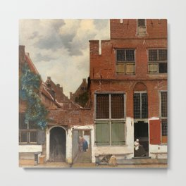 "Johannes Vermeer ""View on Houses in Delft (also known as 'The Little Street')"" Metal Print"