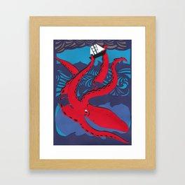 The Kraken Framed Art Print