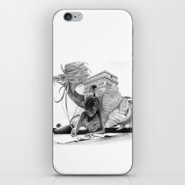 HOW IT BEGINS (featuring the photography of Harvey Lisse w/his daughter Chontelle) iPhone Skin