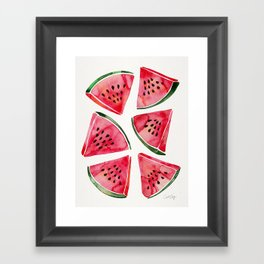 Watermelon Slices Framed Art Print