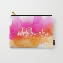 Love Beat Watercolor back Carry-All Pouch