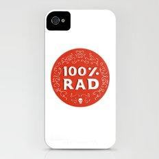 100% Rad iPhone (4, 4s) Slim Case