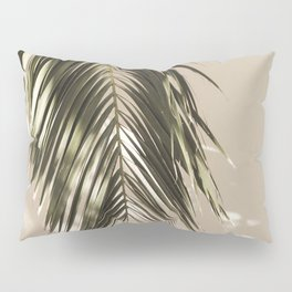 Palm Leaf Shadow Summer Pillow Sham