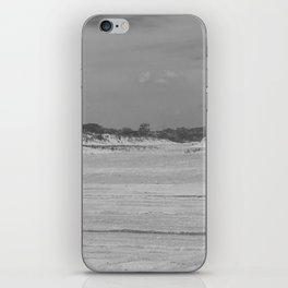 Dunes of Assateague Island (black and white) iPhone Skin