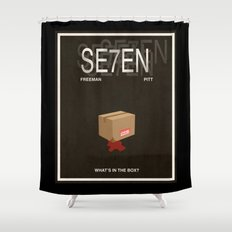 Seven Movie Poster Shower Curtain