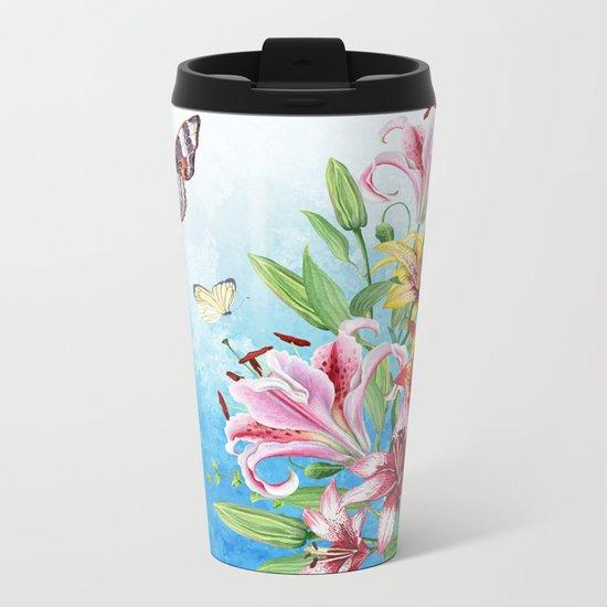 Flowers bouquet #19 Metal Travel Mug