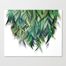 """Spring Forest of Surreal Leaf"" Canvas Print"