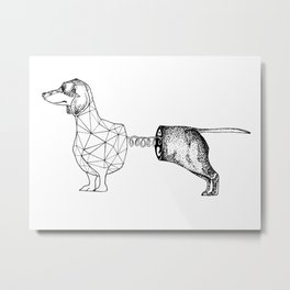 Slinky Dog Metal Print