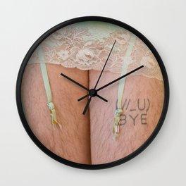 Bye (simon's leg) Wall Clock