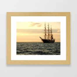 The Georg Stage while sunset  Framed Art Print