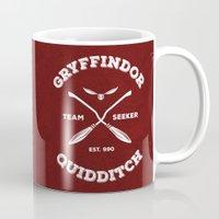 gryffindor Mugs featuring Gryffindor Quidditch by Sharayah Mitchell