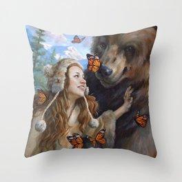 Girl's Best Friend Throw Pillow