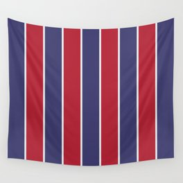 Large Red White and Blue USA Memorial Day Holiday Vertical Cabana Stripes Wall Tapestry