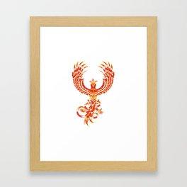 Mythical Phoenix Bird Framed Art Print