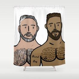Beard Boy: Daddy & Son Shower Curtain