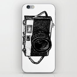 vintage camera, right handed, phone case iPhone Skin
