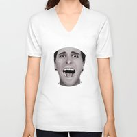 american psycho V-neck T-shirts featuring American Psycho by Alexia Rose