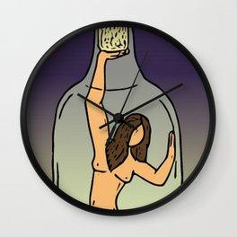 Girl in Bottle Wall Clock