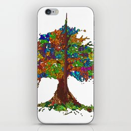 The Stained Glass Tree iPhone Skin