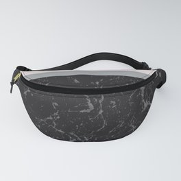 Grey Black Marble Meets Romantic Pink #1 #decor #art #society6 Fanny Pack