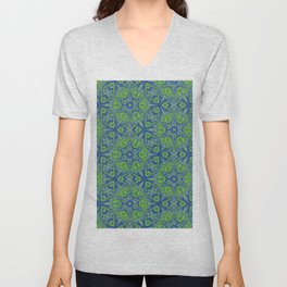 Peacock Deconstructed Unisex V-Neck