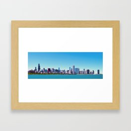 City of Chicago, Illinois Skyline Panorama Framed Art Print