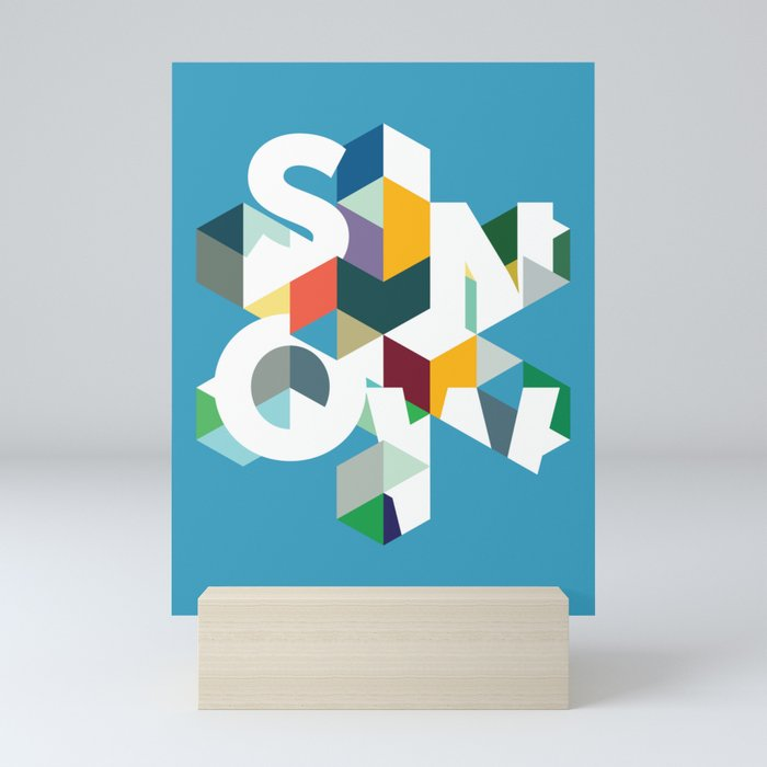 Snow (type) Mini Art Print