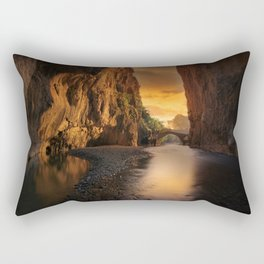 Sunrise in the Valley Photographic Landscape Rectangular Pillow