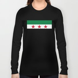 Syrian Independence Flag  High quality Long Sleeve T-shirt