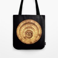 chandelier Tote Bags featuring chandelier by Minimum