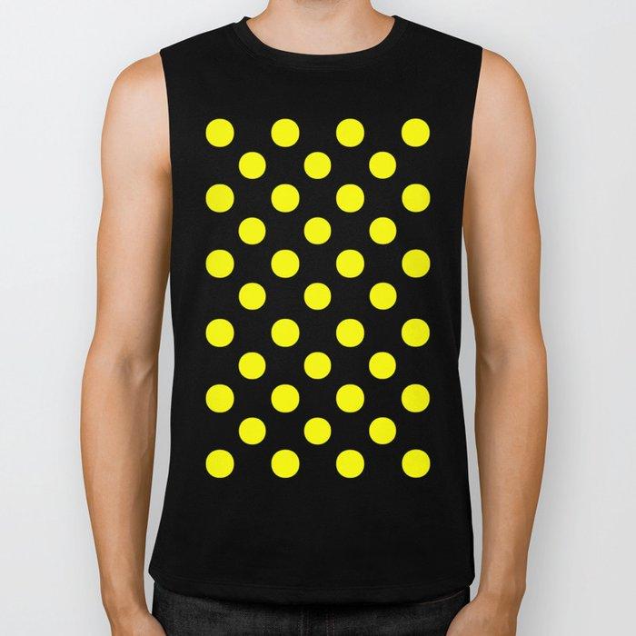 Polka Dots (Yellow/White) Biker Tank