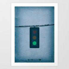 Breaking Bad  - Green Light Art Print