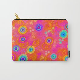 SWIZZLE STICK - Sweet Cherry Red Fruity Candy Swirls Abstract Watercolor Painting Feminine Art Carry-All Pouch