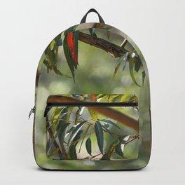 Kookaburra sitting in a gum tree Backpack