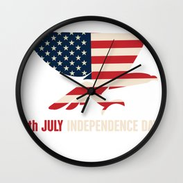 Independence Day USA Wall Clock