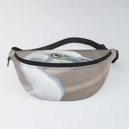 Watercolor Bird Egret 01, Princess of the River Fanny Pack