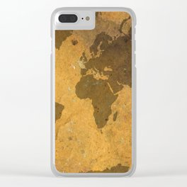 Rock Map 3 - Organic World Map Series Clear iPhone Case