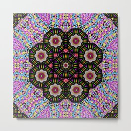 decorative ornate candy with soft candle light for peace Metal Print