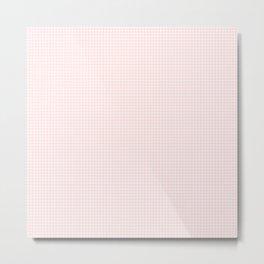 tiny pink grid Metal Print