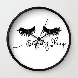Beauty Sleep Wall Clock