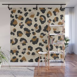 Leopard Print – Neutral Gold Light Palette Wall Mural