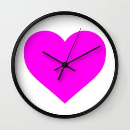 Heart (Magenta & White) Wall Clock