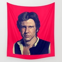 han solo Wall Tapestries featuring Han Solo  by Jemma Klein