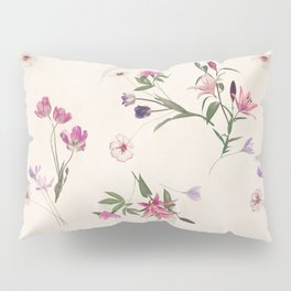 Scattered Floral on Cream Pillow Sham