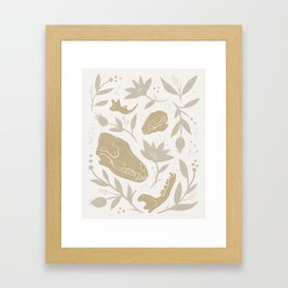 Forest Floor - Gold Framed Art Print