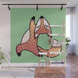 Cute And Fat Fox Wall Mural