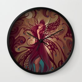 Embrace the night Wall Clock