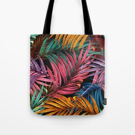 Colorful Palm Leaves Tote Bag