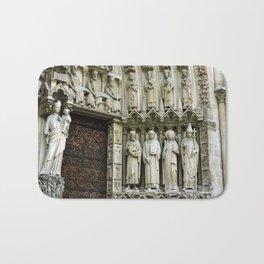 Notre Dame Cathedral Paris Detail Bath Mat