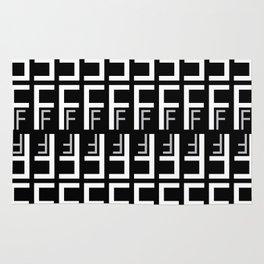 F (Black Background) Rug